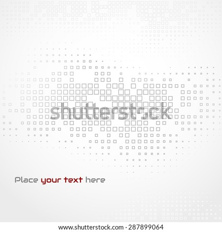 Vector illustration Abstract template brochure design with square mosaic background. Gray halftone