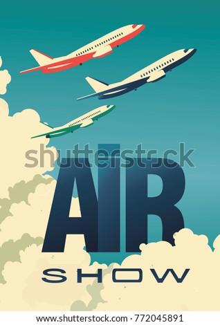 vector illustration air show