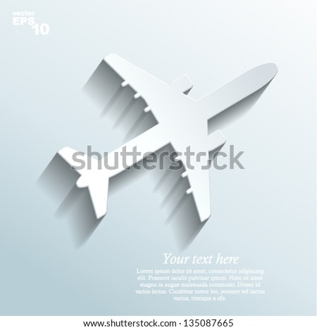 Vector illustration - airplane made of paper