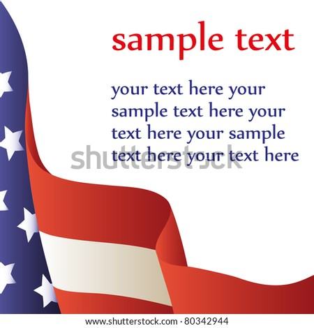 Vector illustration - American flag on a white background