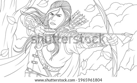 vector illustration  an elf man