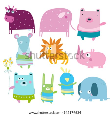 vector illustration animals
