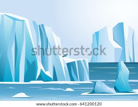 vector illustration arctic...