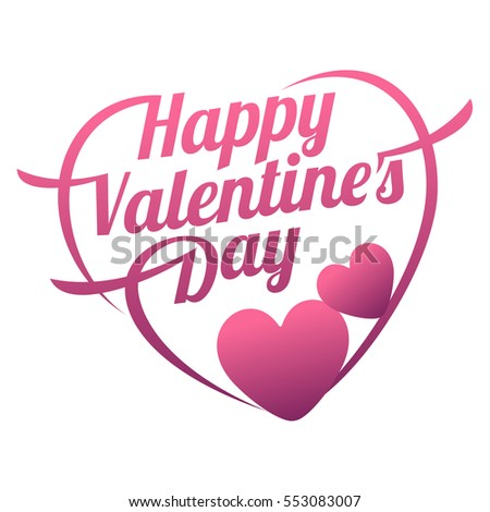 Vector illustration ard Happy Valentines Day. Love heart. Background With Hearts. Web graphics, banners, advertisements, stickers, labels, business templates. Isolated on a white background #553083007