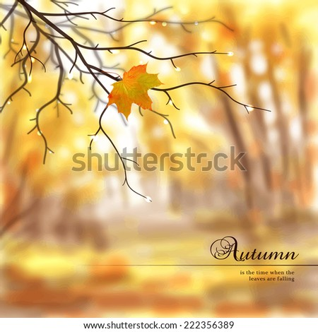 vector illustration autumn
