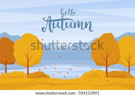 vector illustration  autumn