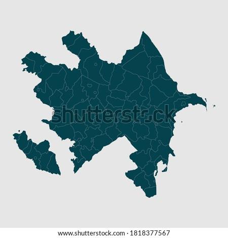 vector illustration Azerbaijan map of Azerbaijan,Green Map