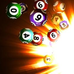 Vector illustration background lottery balls.