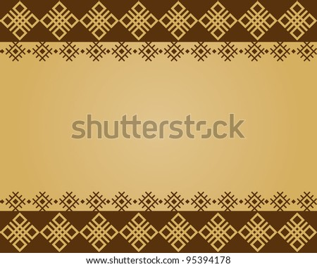 Vector illustration background of ethnic design. - stock vector
