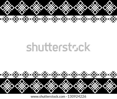 White Borders Black Background Black And White Border