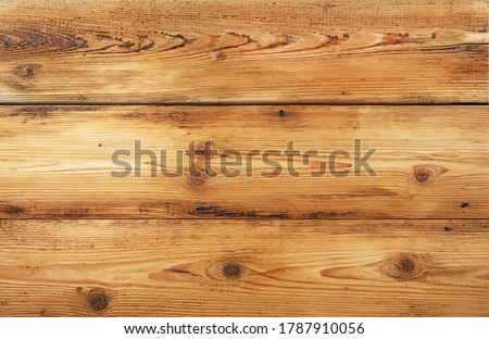 Vector illustration background texture of light brown wide old vintage knotty wooden planks Stock photo ©