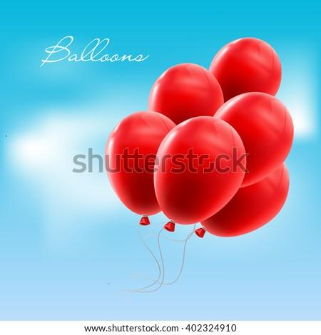 Vector illustration balloons