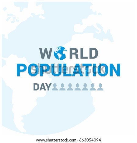 Vector illustration,banner or poster of world population day. White Background.