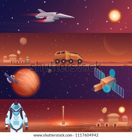vector illustration banners of