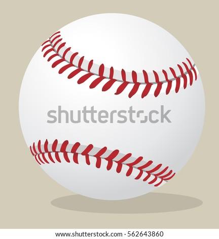 Vector illustration. Baseball ball.