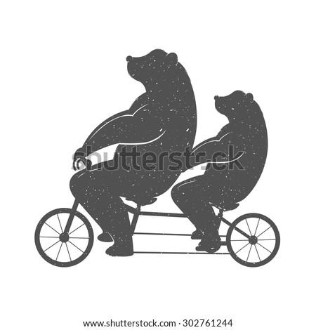 vector illustration bear on a