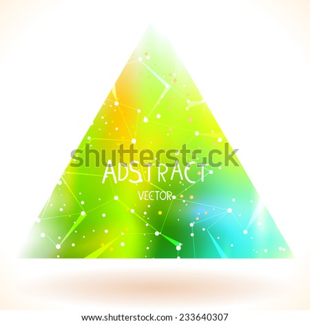 Stock Photo Vector illustration. Beautiful abstract triangle space background