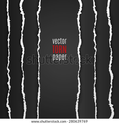 vector illustration black torn