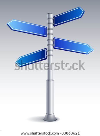 Vector illustration - blank road sign