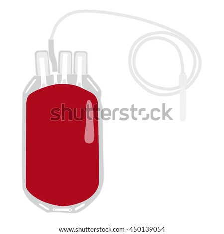 vector illustration blood bag