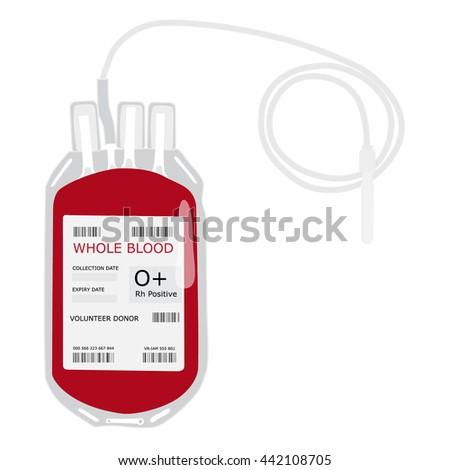 vector illustration blood bag
