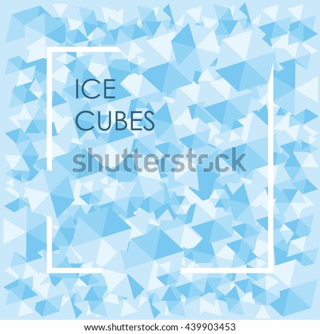 vector illustration   blue ice