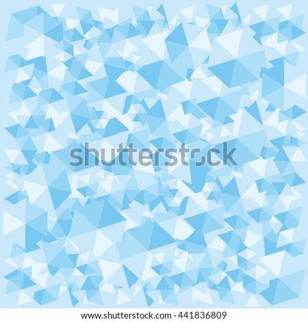 vector illustration   blue ice