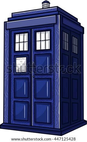 vector illustration blue police