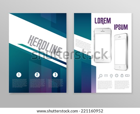 vector illustration booklet