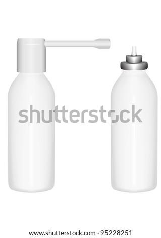 Vector illustration  bottle  spray for treatment bodies  breath  diseases