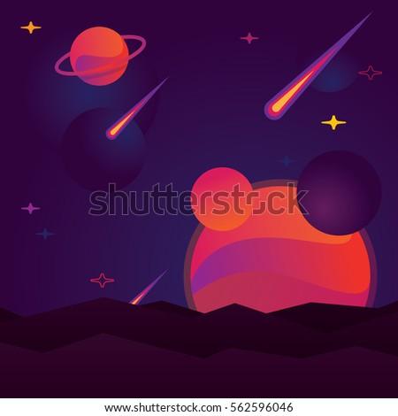 vector illustration bright