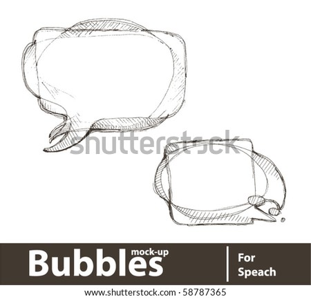 Vector illustration. Bubbles for speech