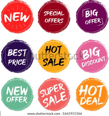 Vector Illustration Bundles Special Price Tags