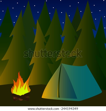 vector  illustration camping