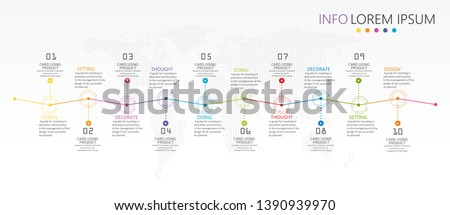 vector illustration Can be used for process, presentations, layout, banner,info graph There are 10 steps or layers.