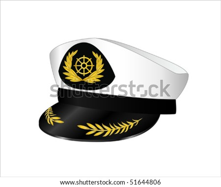 vector illustration captains hat