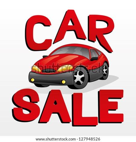 Vector illustration. Car sale.