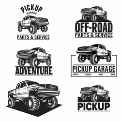 Vector illustration car truck 4x4 pickup