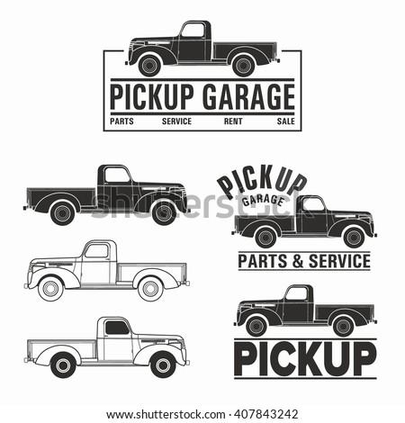 Vector illustration car truck 4x4 pickup logo