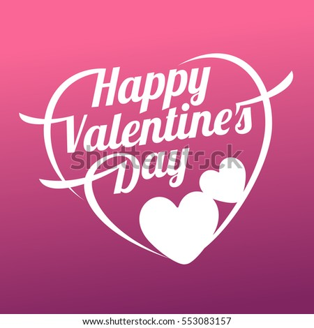 Vector illustration card Happy Valentines Day. Love heart. Background With Hearts. Web graphics, banners, advertisements, stickers, labels, business templates. On a color background #553083157