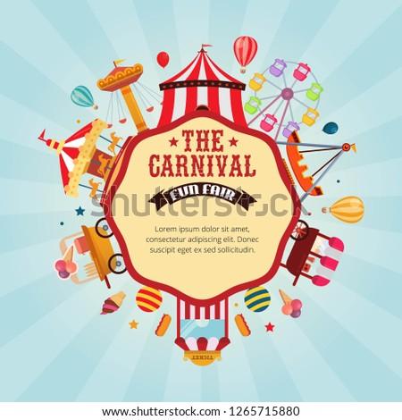 Vector illustration carnival fun fair Foto d'archivio ©