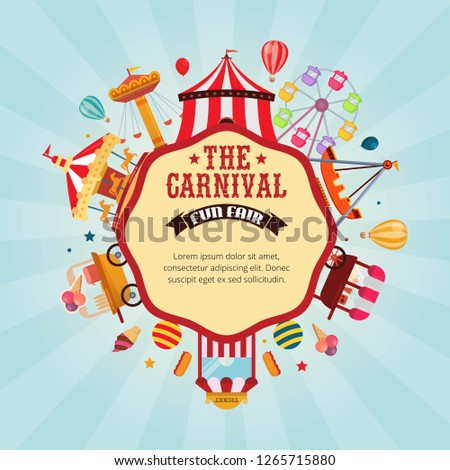 Vector illustration carnival fun fair