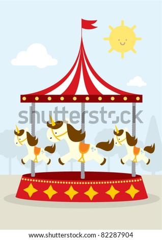 vector illustration carousel