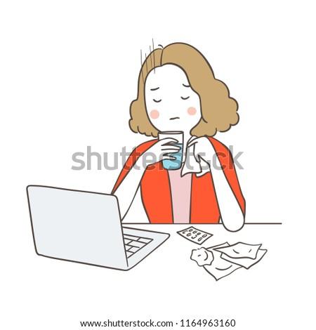 vector illustration character