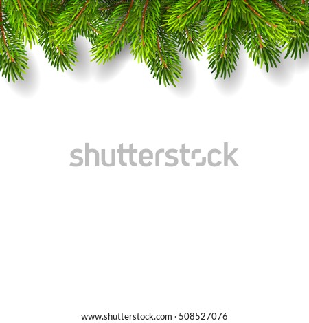 Vector illustration Christmas background with fir-tree branches