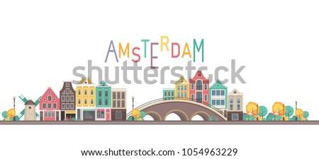 vector illustration city