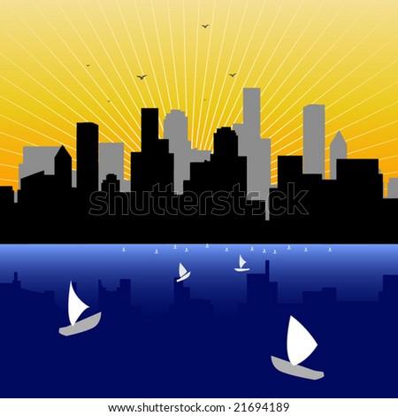 vector illustration city skyline
