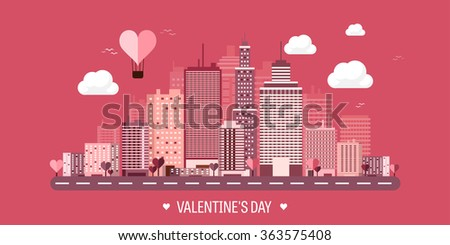 vector illustration city with