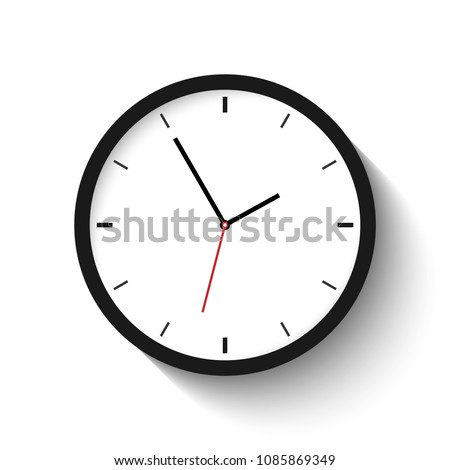 vector illustration, clock icon isolated on a white background.