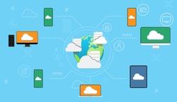 vector illustration, Cloud computing design concept